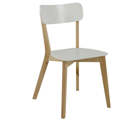STUHL in Holzwerkstoff Weiß, Birkefarben - Birkefarben/Weiß, KONVENTIONELL, Holz/Holzwerkstoff (40,5/79/48,5cm) - Carryhome