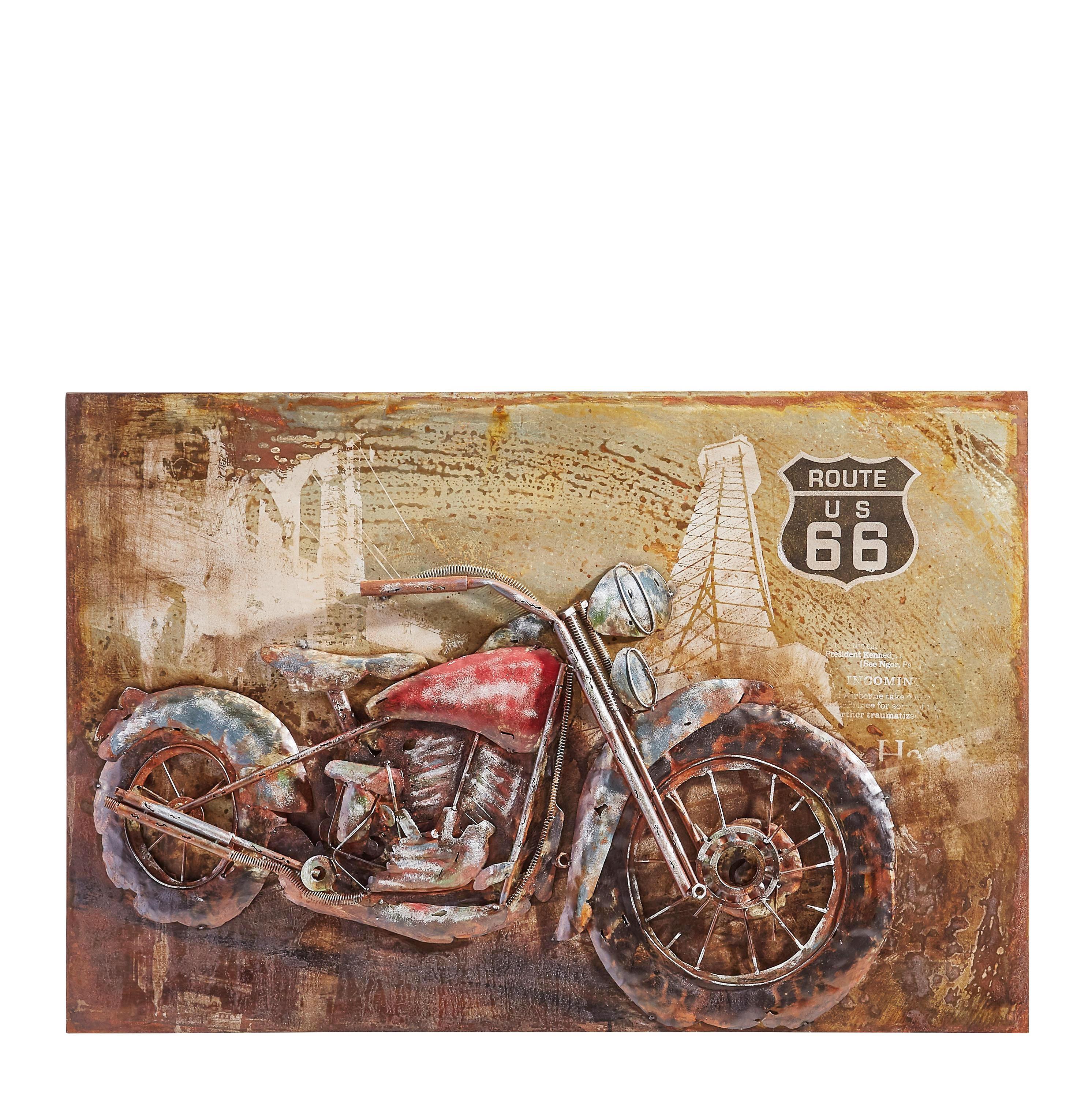 METALLBILD - Rostfarben/Multicolor, Trend, Metall (70/120cm) - MONEE