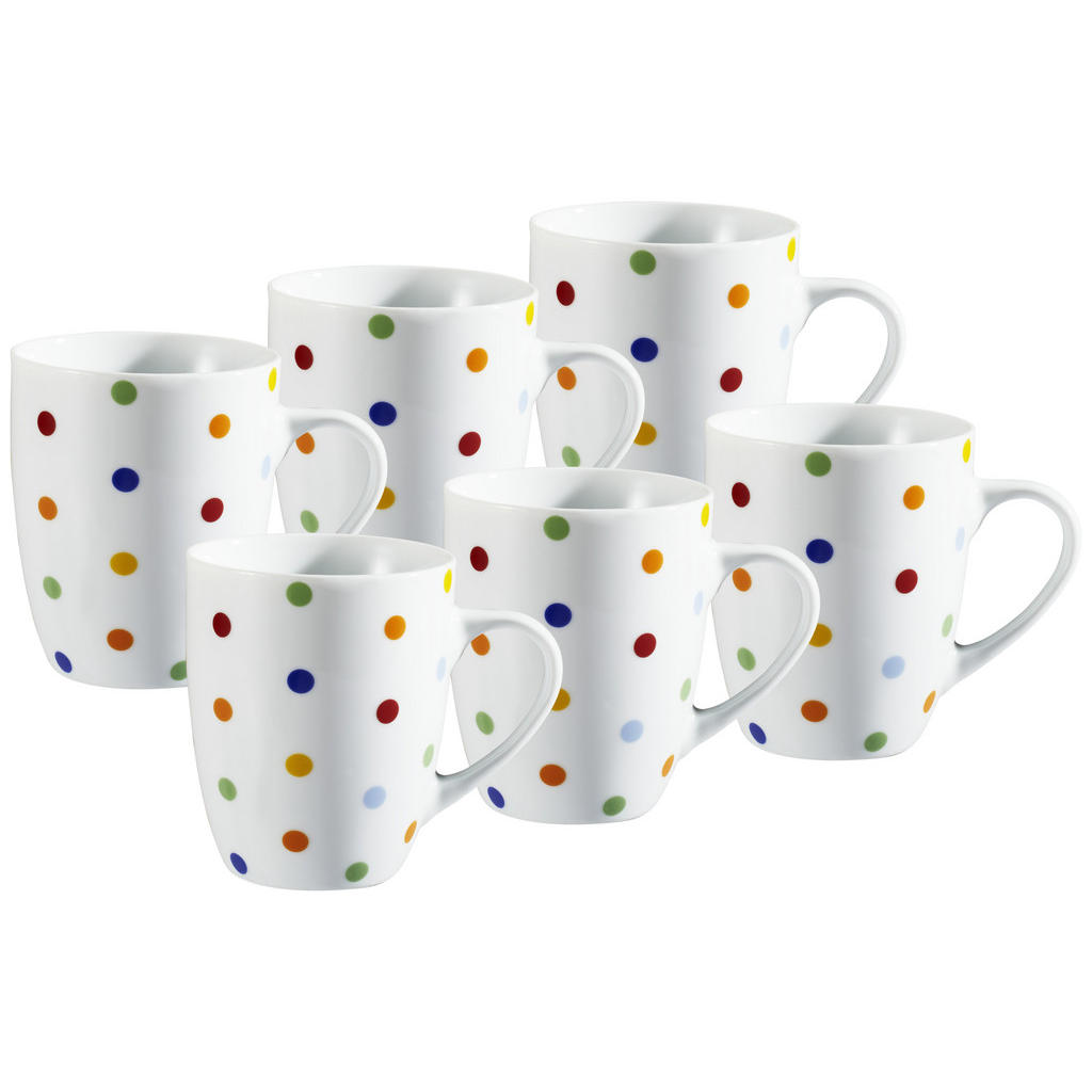 XXXLutz Kaffeebecherset 6-teilig keramik porzellan multicolor