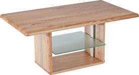 COUCHTISCH in Holz, Glas 110/65/50-69 cm   - Buchefarben, KONVENTIONELL, Glas/Holz (110/65/50-69cm) - Linea Natura
