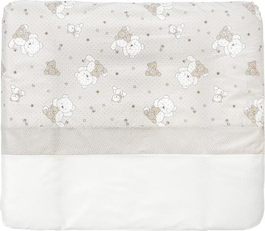 PODLOŽKA PŘEBALOVACÍ - bílá/šedohnědá, Basics, textil (85/75cm) - My Baby Lou