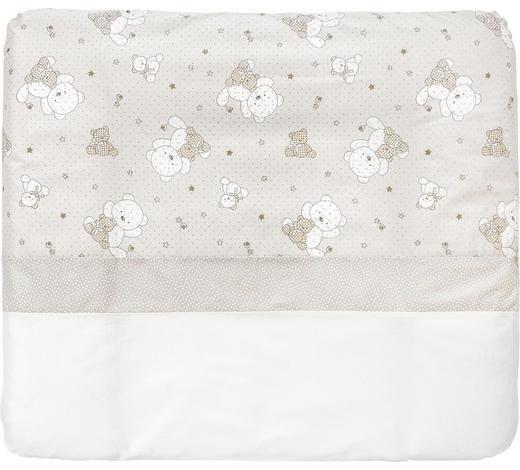 PODLOŽKA PŘEBALOVACÍ - bílá/šedohnědá, Basics, textilie (85/75cm) - My Baby Lou