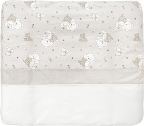 SKÖTBÄDD - vit/mullvadsfärgad/gråbrun, Basics, textil (85/75cm) - My Baby Lou