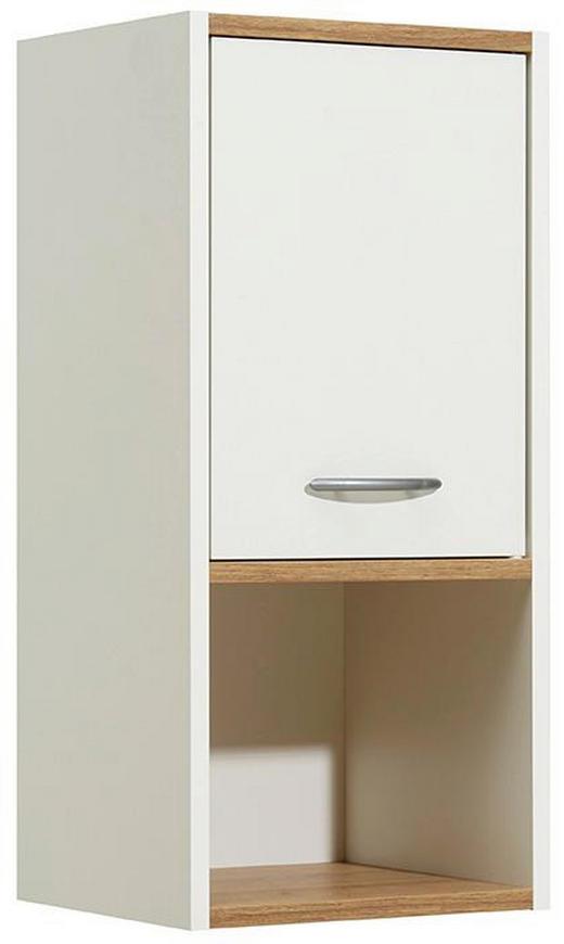 HÄNGESCHRANK Eichefarben, Weiß - Eichefarben/Alufarben, Design, Holzwerkstoff/Kunststoff (33/68/28cm) - Carryhome