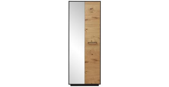 GARDEROBENSCHRANK 72/193/37 cm - Eichefarben/Anthrazit, Design, Glas/Holz (72/193/37cm) - Dieter Knoll