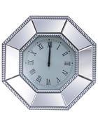 STENSKA URA  srebrna  - srebrna, Design, steklo/leseni material (50,5/50,5/5cm) - Xora