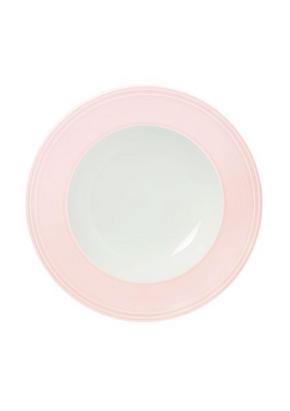 DJUP TALLRIK - vit/ljusrosa, Basics, keramik (23,3cm) - Novel