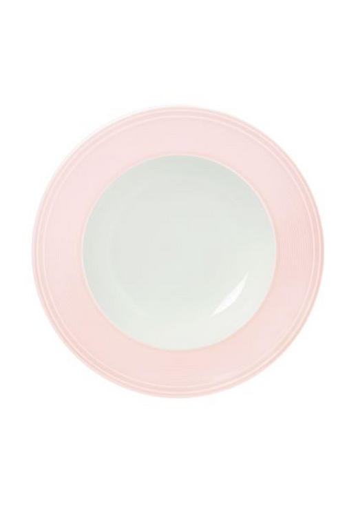 SUPPENTELLER 23,3 cm - Hellrosa/Weiß, Basics, Keramik (23,3cm) - Novel