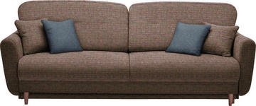 DREISITZER-SOFA in Textil Multicolor - Multicolor, Design, Holz/Textil (235/87/98cm) - Hom`in