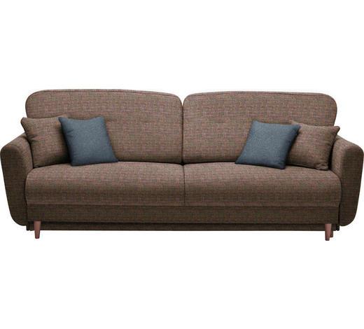 DREISITZER-SOFA in Textil Multicolor - Multicolor, Design, Holz/Textil (235/87/98cm) - Hom`in
