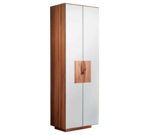 GARDEROBENSCHRANK 72/198/37 cm - Buchefarben/Weiß, MODERN, Glas/Holz (72/198/37cm) - Linea Natura