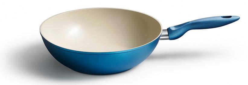 WOKPFANNE 28 cm Cera Color - Blau, Metall (28cm) - KELOMAT