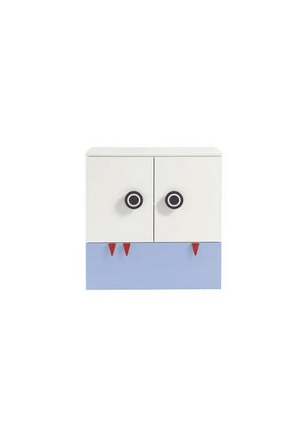 WICKELKOMMODE Now! Minimo Weiß  - Blau/Rot, Design, Holzwerkstoff (90,2/93,9/53,1cm) - Now by Hülsta
