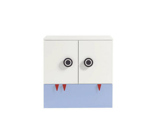 WICKELKOMMODE Now! Minimo - Blau/Rot, Design, Holzwerkstoff (90,2/93,9/53,1cm) - Now by Hülsta