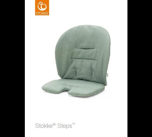 Steps Sitzkissen Timeless Green OCS  - Grün, Basics, Textil (18/28/5cm) - Stokke