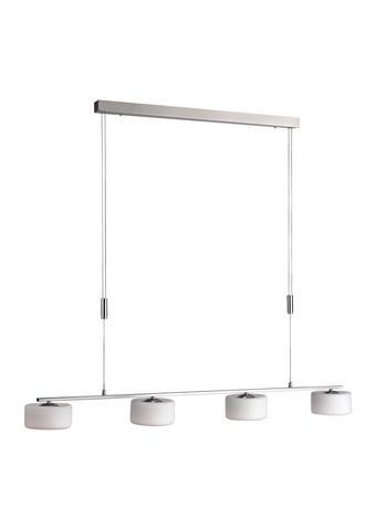 LED SVJETILJKA VISEĆA - boje nikla, Moderno, staklo/metal (120/15/200,5cm)