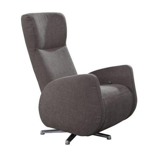 RELAXSESSEL - Chromfarben/Dunkelbraun, Design, Textil/Metall (74/112/90cm) - Dieter Knoll