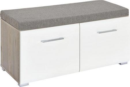 KLUPA ZA PREDSOBLJE - Srebrna/Boje hroma, Dizajnerski, Metal/Pločasti materijal (85/38/38cm) - Xora