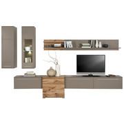 DNEVNI REGAL  hrast, siva - siva/hrast, Design, umetna masa/steklo (320/199/43cm) - Hom`in