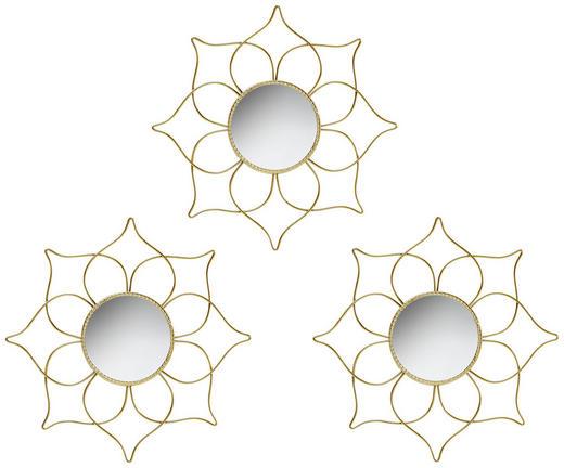 SPIEGEL-SET 3-TLG. Goldfarben - Goldfarben, Metall (25cm)