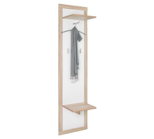 GARDEROBNI PANEL - bijela/hrast Sonoma, Design, drvni materijal (50/198/35cm) - Boxxx