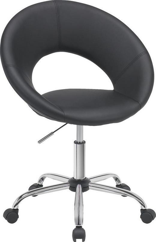 OTOČNÁ ŽIDLE - černá/barvy chromu, Design, kov/textilie (68/84-96/56cm) - Carryhome