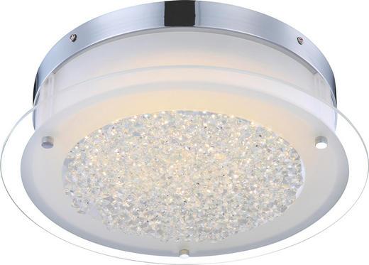 LED-DECKENLEUCHTE - Chromfarben, Design, Glas/Metall (36/10,3cm)