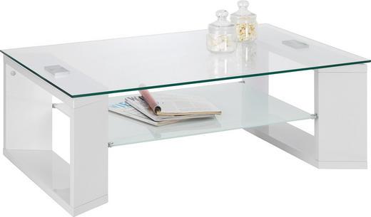 COUCHTISCH rechteckig Weiß - Weiß, Design, Glas (104/70/38cm) - Carryhome