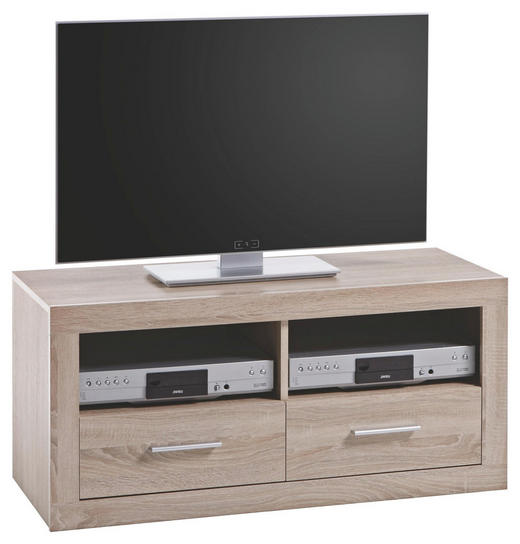 LOWBOARD Sonoma Eiche - Silberfarben/Sonoma Eiche, Design, Kunststoff (102/49/45cm)