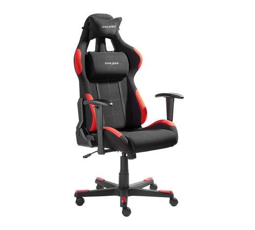 Gamingstuhl Rot Schwarz Metall Kunststoff Textil