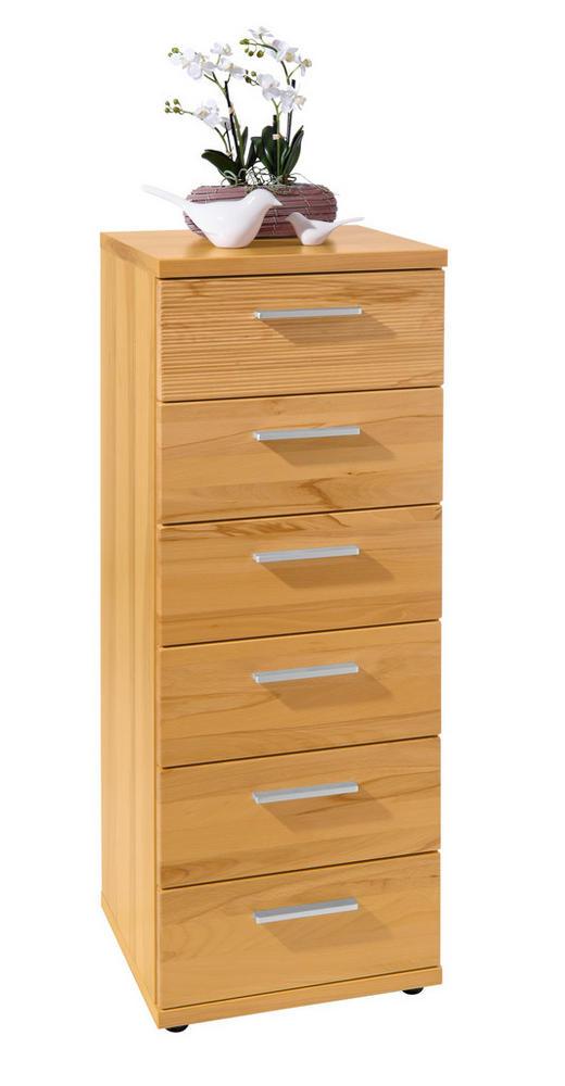 KOMMODE - Chromfarben/Buchefarben, Design, Holz/Kunststoff (42/107/39cm)