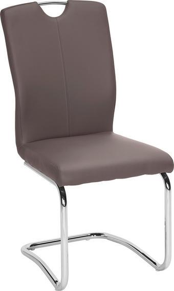 NIHAJNI STOL, kovina, tekstil rjava, krom - krom/rjava, Design, kovina/tekstil (58,5/99,5/46cm) - Hom`in