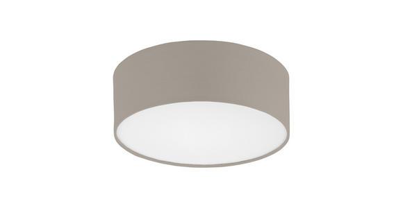Deckenleuchte Kora Ø 38 cm mit Textilem Lampenschirm - Taupe/Weiß, KONVENTIONELL, Textil/Metall (38/11cm) - James Wood