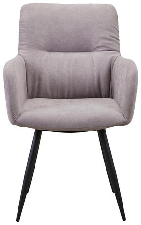 STOL - ljusgrå/antracit, Klassisk, metall/textil (58/89/61cm) - Hom`in