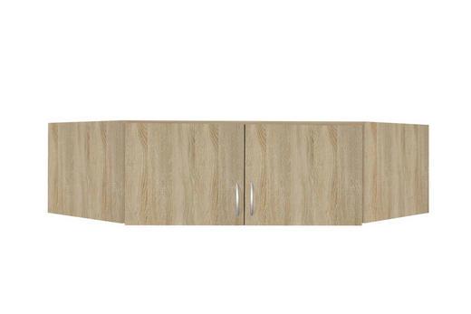 AUFSATZSCHRANK 120/39/54 cm Sonoma Eiche - Silberfarben/Sonoma Eiche, Design, Kunststoff (120/39/54cm) - Carryhome