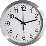 WANDUHR 25 cm   - Silberfarben/Weiß, Basics, Glas/Kunststoff (25cm) - Ambia Home