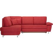 WOHNLANDSCHAFT in Textil Rot - Rot/Alufarben, KONVENTIONELL, Textil/Metall (212/262cm) - Ada Austria