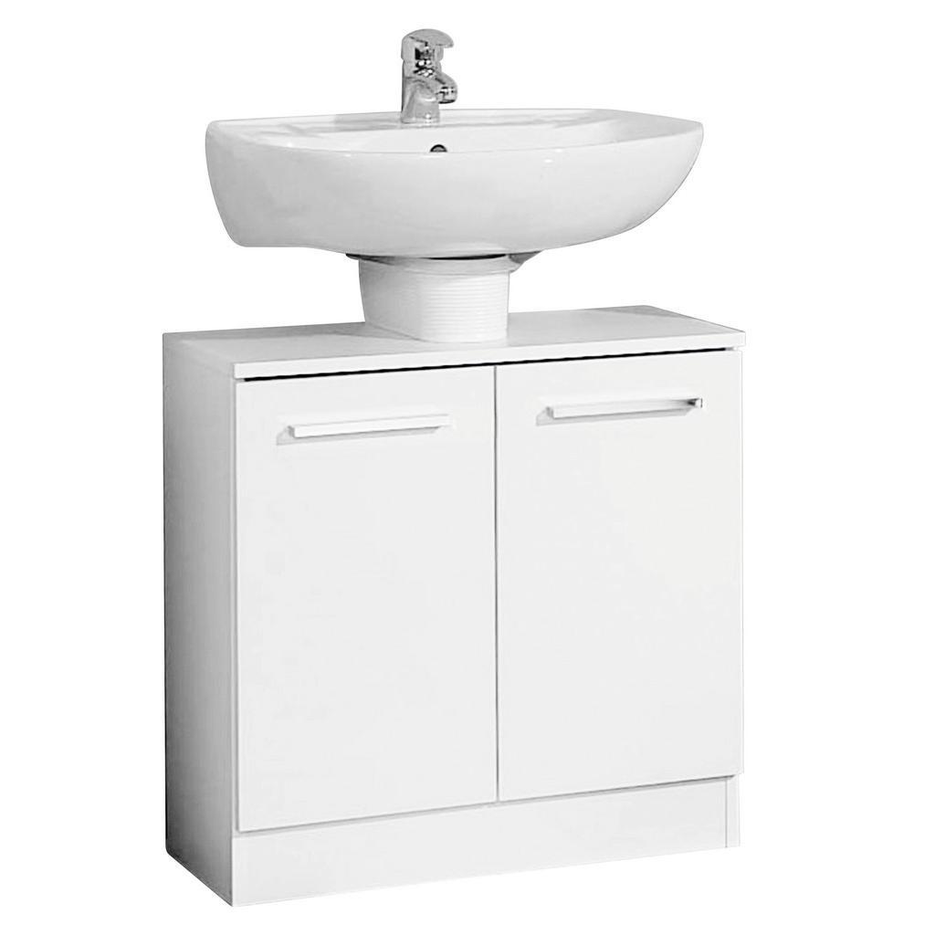 Carryhome Waschbeckenunterschrank weiß
