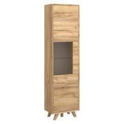 VITRINE in Eichefarben - Eichefarben, Design, Glas/Holz (55/210/35cm)