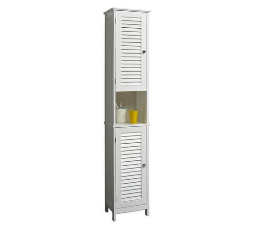 HOCHSCHRANK Weiß  - Chromfarben/Weiß, KONVENTIONELL, Holzwerkstoff/Metall (32/171/30cm) - Carryhome