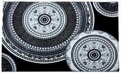 Webteppich Joffrey 80x150 cm - Schwarz/Weiß, KONVENTIONELL, Textil (80/150cm) - Ombra