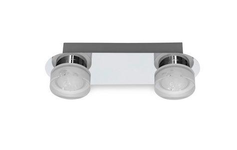 ZIDNA LAMPA ZA KUPATILO - Boje hroma, Dizajnerski, Plastika/Metal (30/10/8,5cm) - Celina