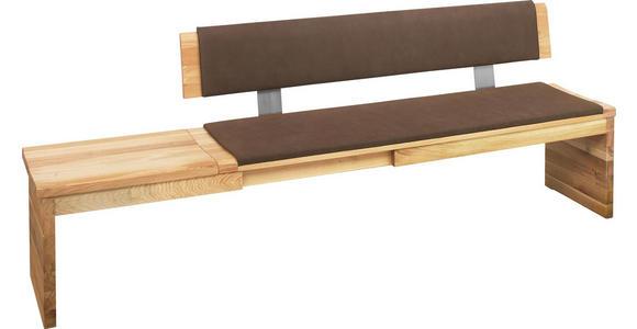 SITZBANK in Holz, Textil Braun, Eichefarben - Eichefarben/Braun, Natur, Holz/Textil (0/0/0cm) - Linea Natura