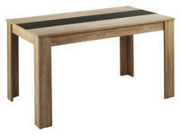ESSTISCH in Holzwerkstoff 160/90/75 cm   - Eichefarben, MODERN, Holzwerkstoff (160/90/75cm) - Carryhome
