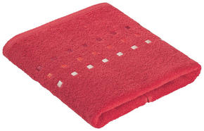 HANDDUK - röd, Klassisk, textil (50/100cm) - Esposa