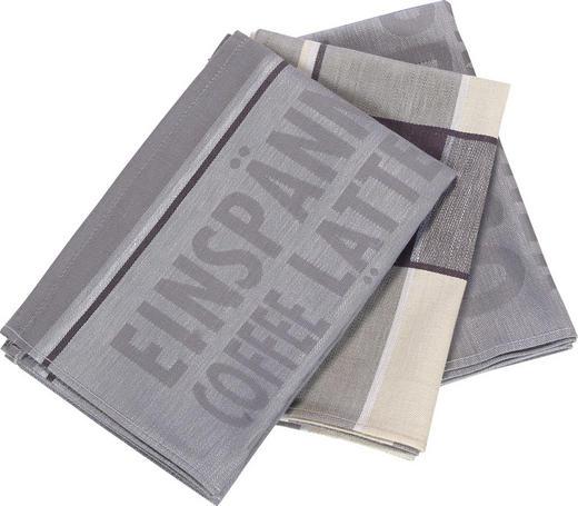 GESCHIRRTUCH-SET - Grau, Design, Textil (50/70cm) - Esposa