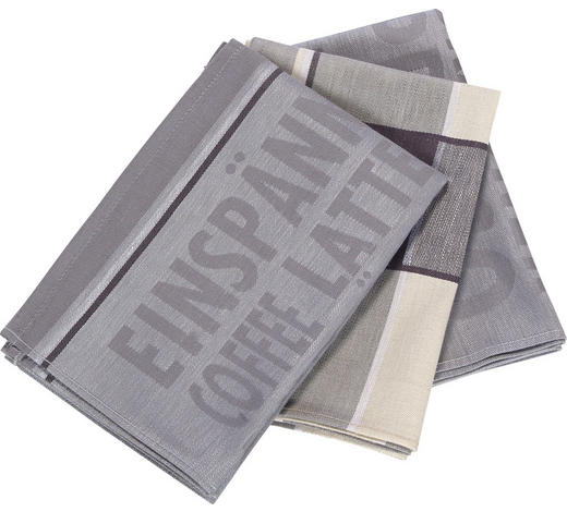 GESCHIRRTUCH-SET  3-teilig  - Grau, Design, Textil (50/70cm) - Esposa