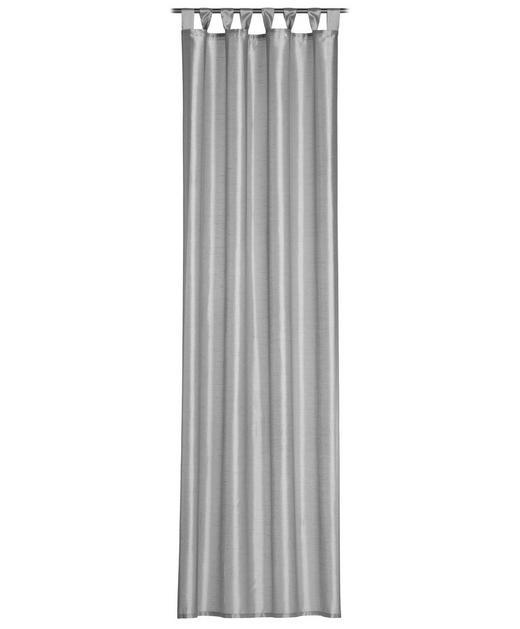 SCHLAUFENSCHAL  blickdicht   140/255 cm - Graphitfarben, Basics, Textil (140/255cm)