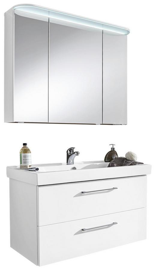 BADEZIMMER Weiß - Weiß, Design, Glas (96cm) - Sadena