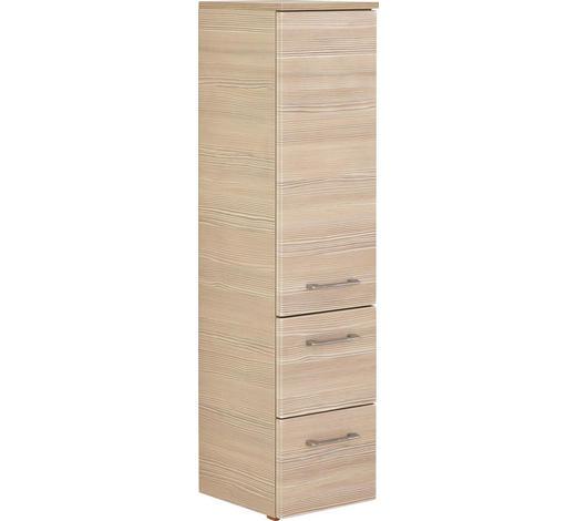 MIDI SKŘÍŇKA - medová/barvy chromu, Design, kov/kompozitní dřevo (30/121,2/33cm) - Sadena